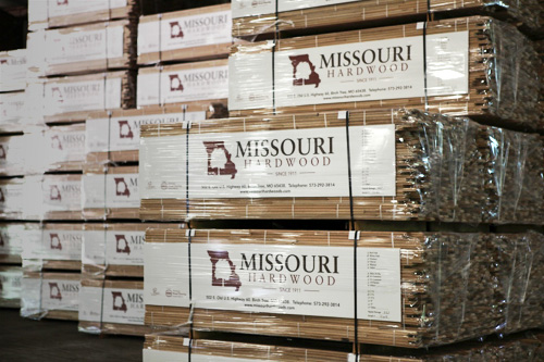 Missouri Hardwood Lumber in Warehouse